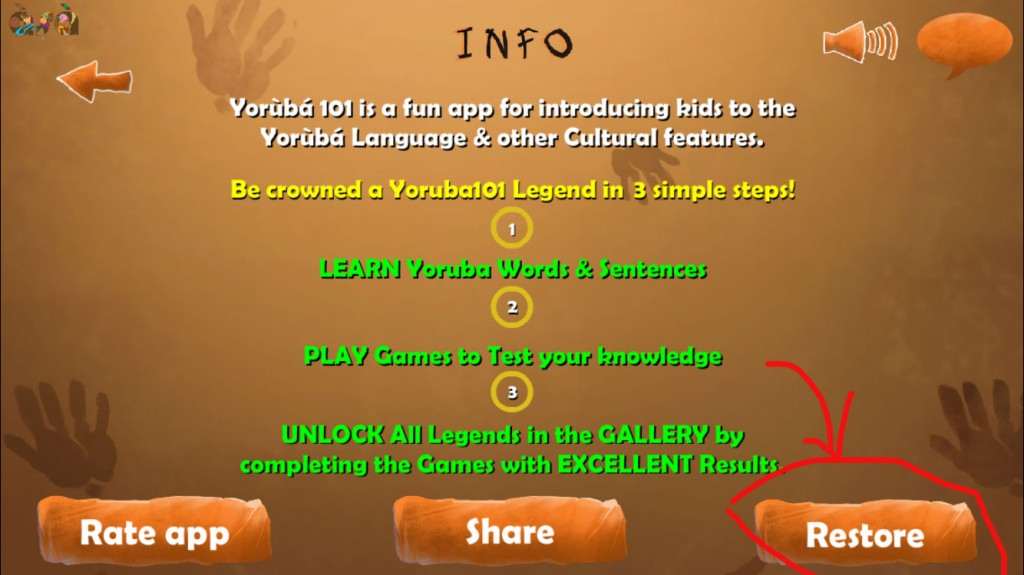 Yoruba101 unlock purchased lessons and games